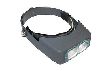 Лупа бинокулярная, налобная, с LED подсветкой, 4 насадки (1.5x, 2x, 2.5x, 3.5x) (MG81007-В)