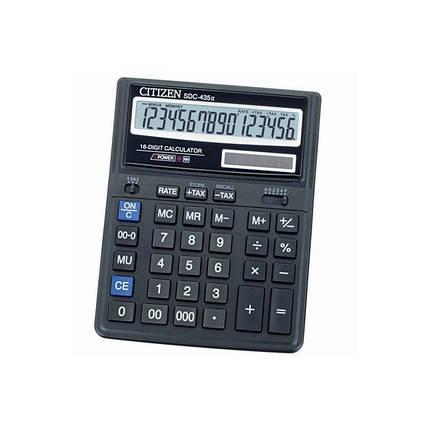 Калькулятор 16 разрядный Citizen SDC-435, фото 2