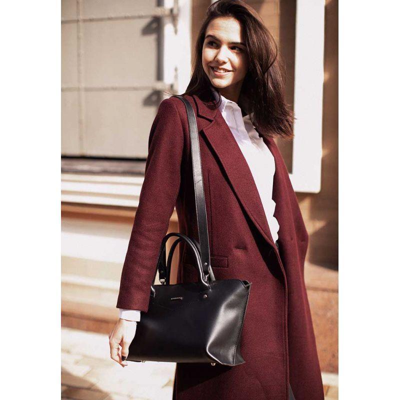 Женская кожаная сумка Midi черная, фото 1