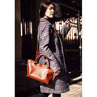 Женская кожаная сумка Midi светло-коричневая, фото 1