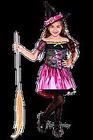 Детский карнавальный костюм для девочки ВЕДЬМОЧКА код 2090 32