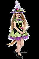 Детский карнавальный костюм для девочки ВЕДЬМОЧКА код 2059 28