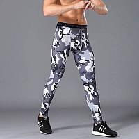 Мужские лосины для бодибилдинга, MMA, единоборств, серый камуфляж