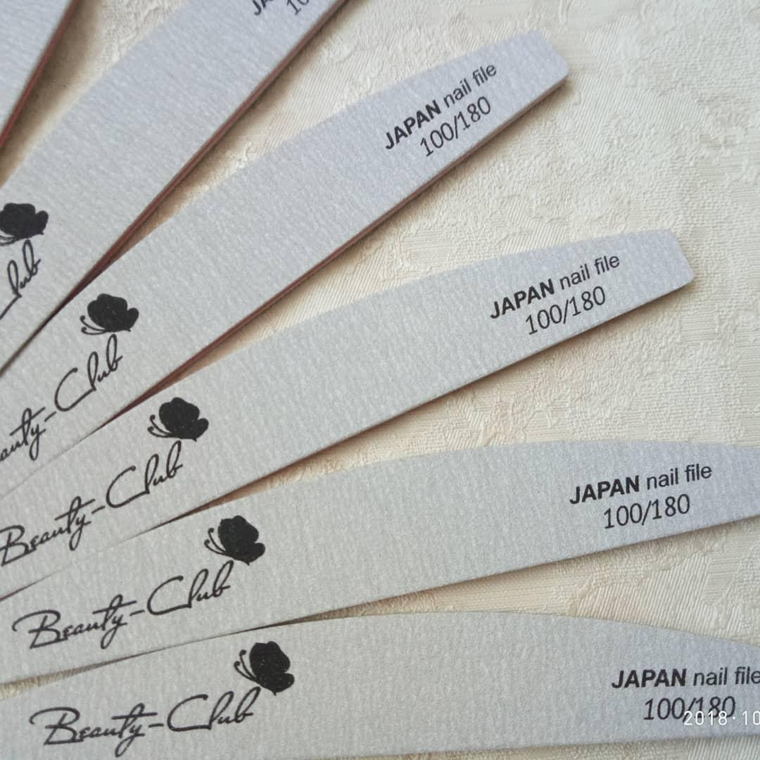 Пилочка для ногтей Beauty Club в асортименте- Очень долгоиграющая японская бумага! Супер качество 100\180