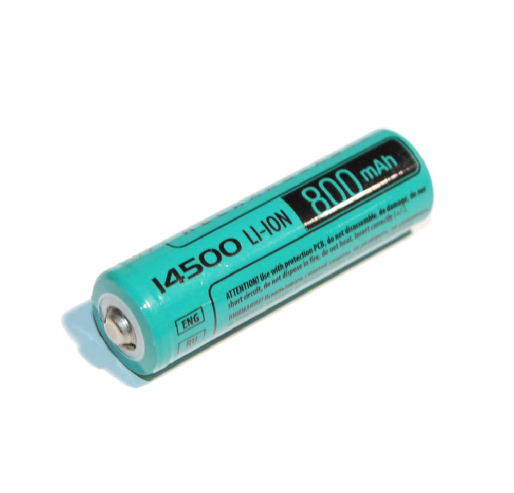 Акумулятор 14500, 800 mAh, Videx, 1 шт, Li-ion, Bulk, літієва батарейка