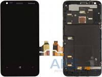 Дисплей (экраны) для телефона Nokia Lumia 620 + Touchscreen with frame Original