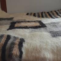 Одеяло, плед, покрывало 100% натуральная шерсть двуспальное (190х220 см, 5,0 кг)