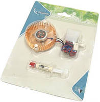 Кулер для видеокарты Gembird VC-RD с подсветкой, алюминиевый, вентилятор на видеокарту