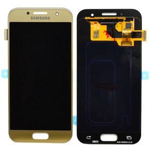 Модуль Samsung SM-A320F Galaxy A3 (2017) gold (оригинал) дисплей экран, сенсор тач скрин для телефона смартфона