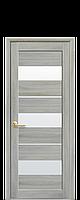 Межкомнатная дверь Лилу Экошпон со стеклом сатин, цвет ясень патина