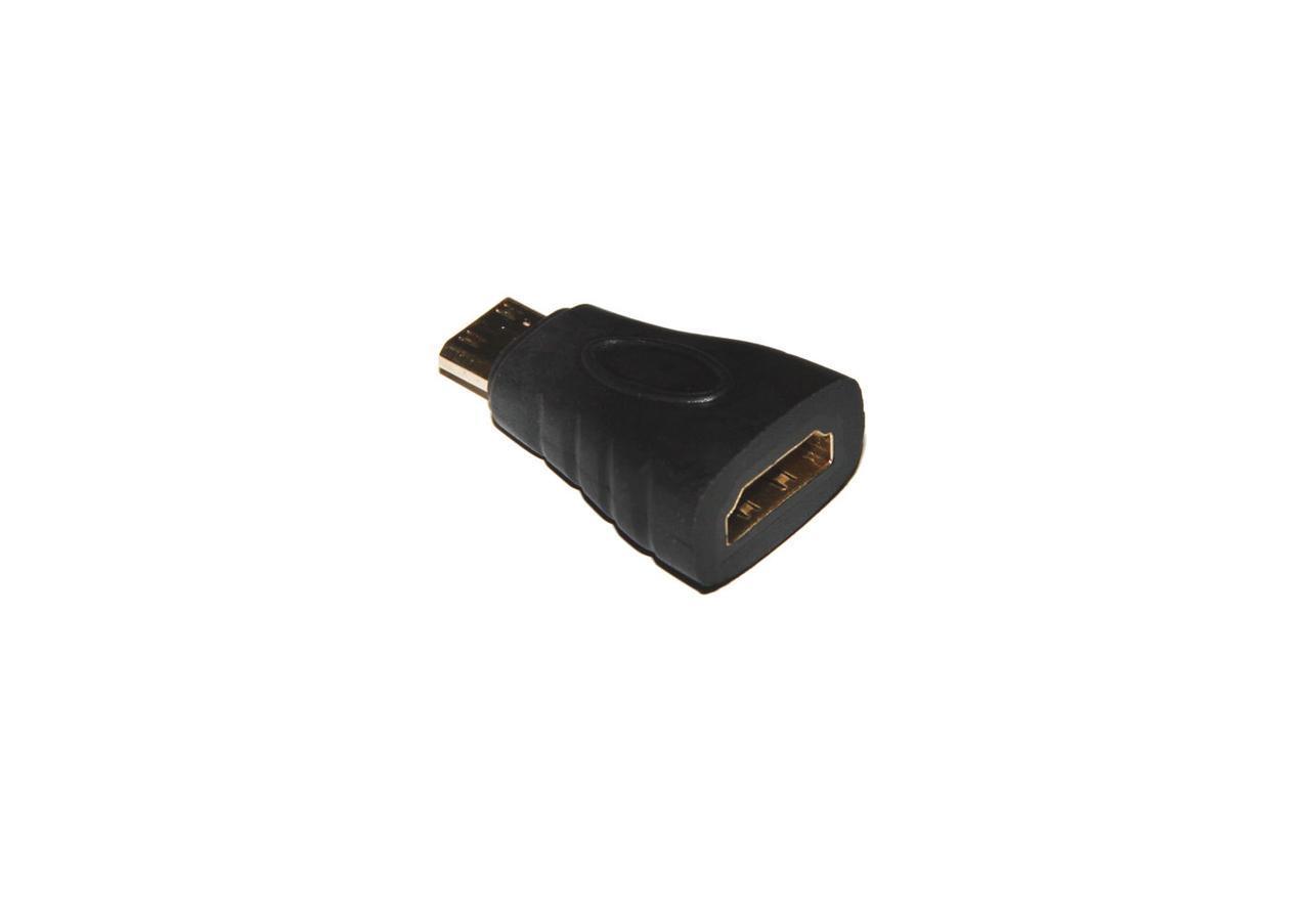 Переходник Mini HDMI(папа) -> HDMI(мама), позолота