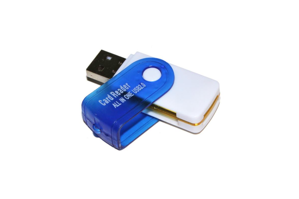 Кардридер внешний All-in-One XP8 (в форме флешки) USB 2.0