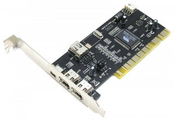 Контроллер PCI - IEEE1394 3+1port с кабелем, фото 2