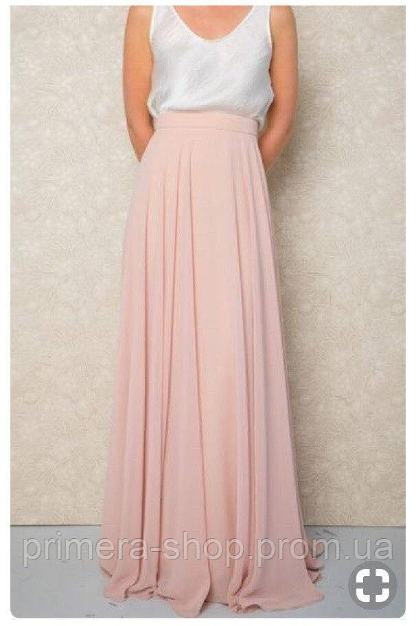 35f0e5c4df8 Женская пудровая юбка в пол   продажа