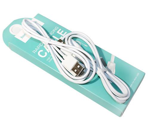 Кабель USB  microUSB, Hoco X1, 1 м ,White, ( 2 pcs), шнур, фото 2
