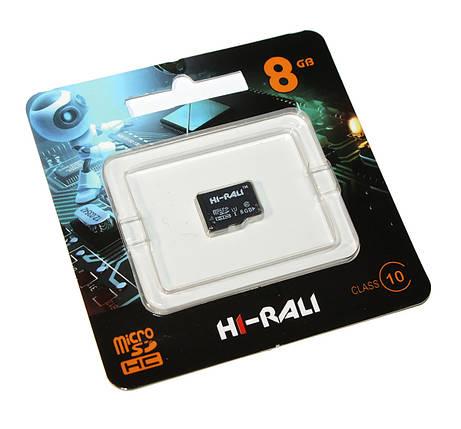 Карта памяти microSDHC, 8Gb, Class10 UHS-I, HI-RALI, без адаптера (HI-8GBSD10U1-00), фото 2