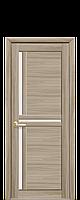 Межкомнатная дверь Тритини Экошпон со стеклом сатин, цвет сандал
