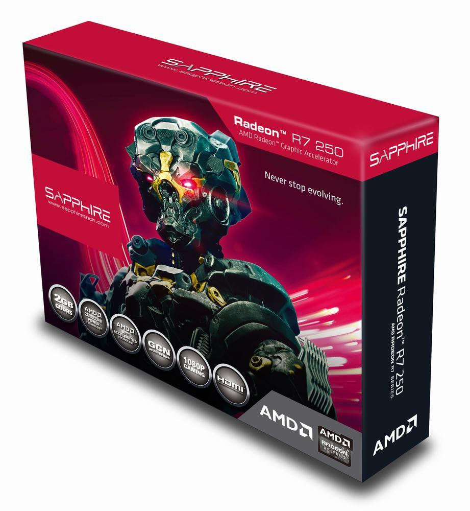 "Видеокарта Sapphire R7 250 2048MB GDDR5 (128bit) ""Over-Stock"""