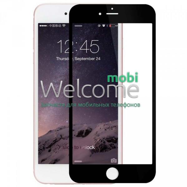 Защитное стекло iPhone 6+,6S+ (0.3 мм, 3D,4D), Japan, черное, с олеофобным покрытием) Айфон 6 +