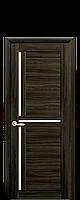 Межкомнатная дверь Тритини Экошпон со стеклом сатин, цвет кедр