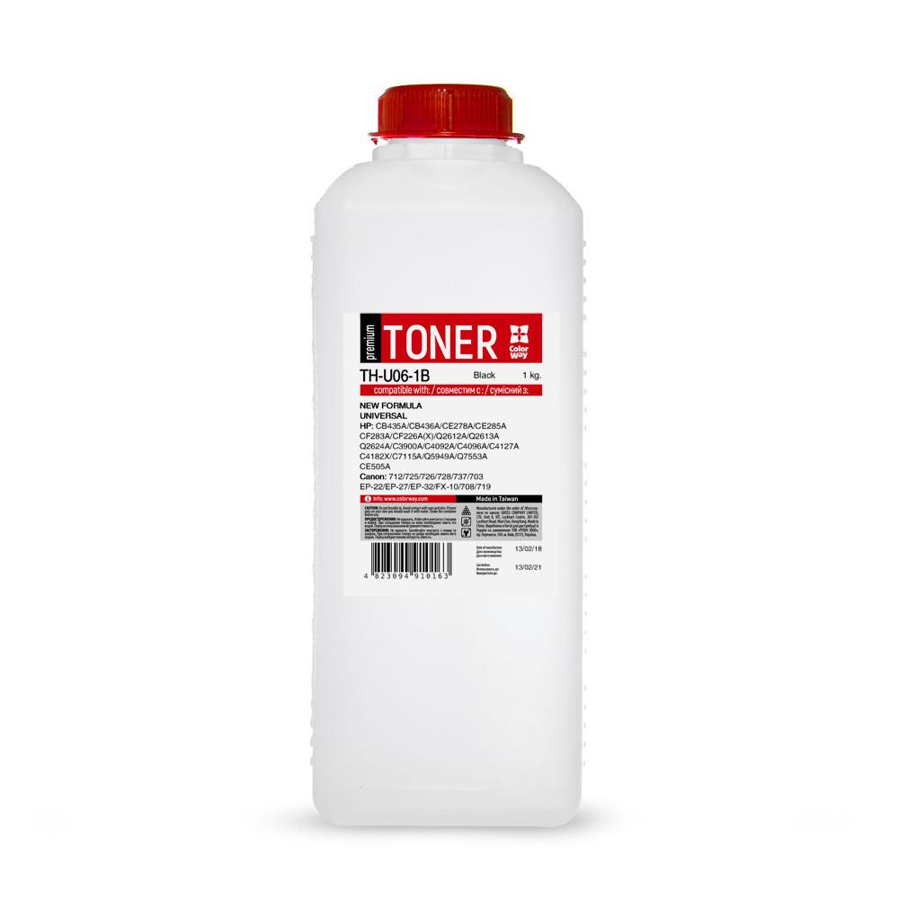 Тонер HP Универсальный P1005/P1505/P2015/P2035/P2055/P4015, 1 кг, ColorWay Premium (TH-U06-1B)