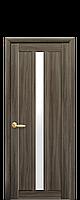 Дверь Марти Новый стиль экошпон со стеклом сатин, цвет кедр