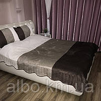 Стеганое велюровое покрывало на кровать диван, покрывало евро на кровать диван, покрывало велюровое на кровать, фото 2
