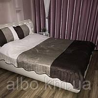 Стьобане велюровое покривало на ліжко диван, покривало євро на ліжко диван, покривало велюровое на ліжко диван, гарне покривало, фото 2