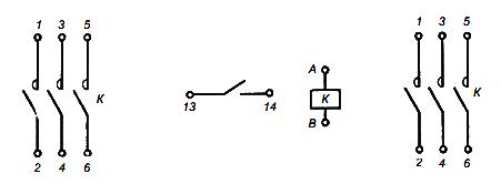Принципиальная схема магнитного пускателя ПМЛ
