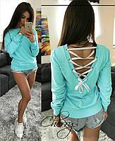 f5c91d878 Стильная женская кофта с шнуровкой на спине (кофта, бантик, свитер )