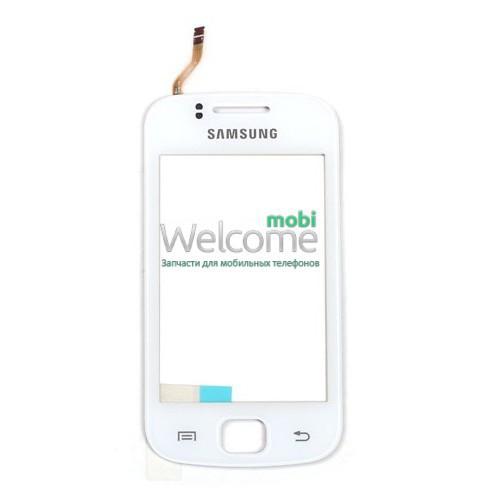 Сенсор Samsung S5660 white (оригинал), тач скрин для телефона смартфона