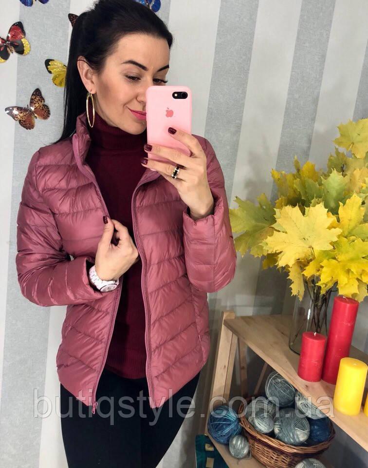 Женская демисезонная куртка на молнии плащевка розовая, молоко, красная, черная,