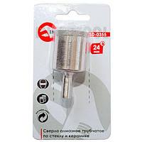 Алмазне свердло трубчасте по склу та кераміці 24 мм INTERTOOL SD-0355