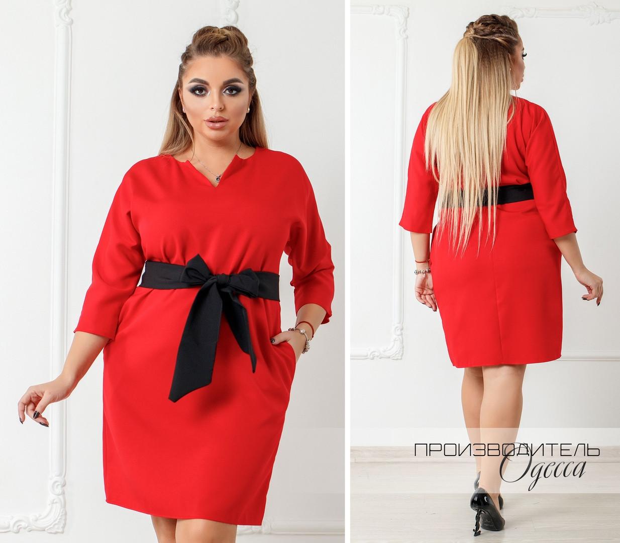 Красивое платье батал Лента