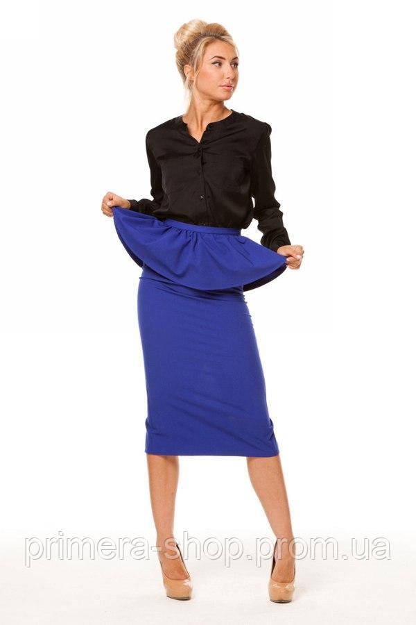 ea815ffc155 Синяя офисная юбка