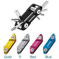 Набор шестигранников EXUSTAR E-T18+ (6/5/4/3/2.5мм) 7 функций (в т.ч ключ Т25) синий