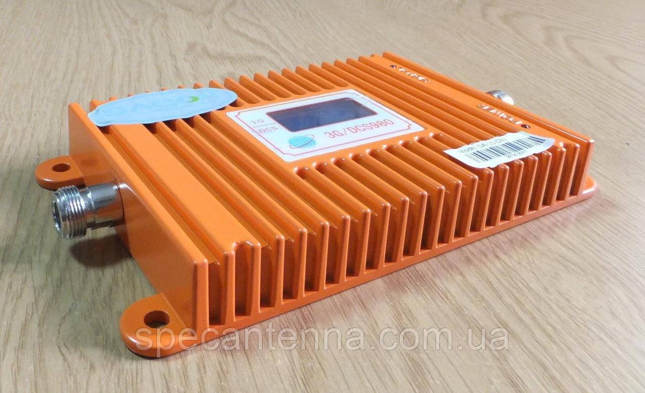 Двухдиапазонный репитер усилитель SST-2370-DW 3G 2100 MHz + DCS 1800/4G LTE 1800 MHz с дисплеем, фото 1