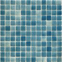 Голубая мозаика на стены и пол Glass Mosaik HVZ-137