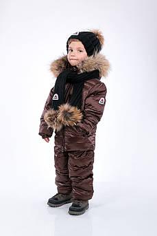 Детский зимний комбинезон Sabbi коричневый