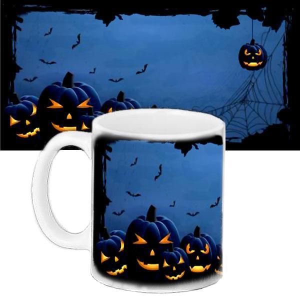 Чашка Moderika белая с рисунком Хеллоуин (33412)