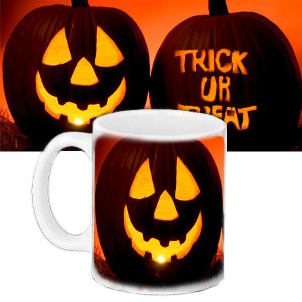 Чашка Moderika белая с рисунком Хеллоуин (33413)