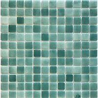 Декоративная мозаика бирюзовая Glass Mosaik HVZ-124