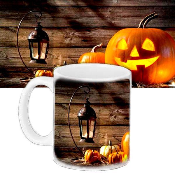 Чашка Moderika белая с рисунком Хеллоуин (33417)