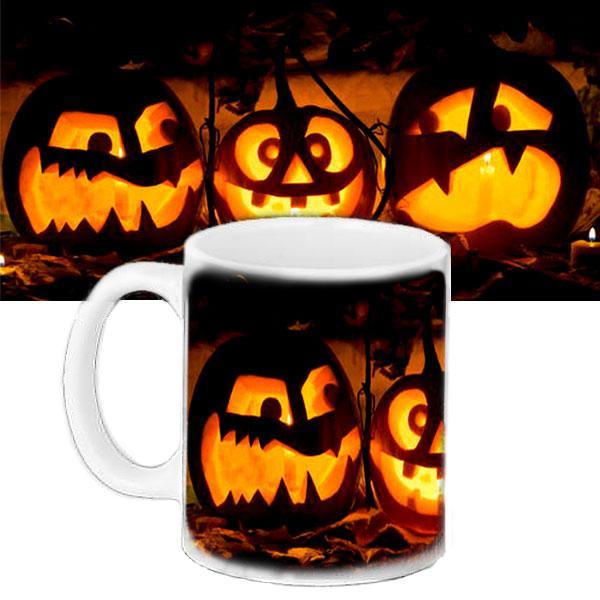 Чашка Moderika белая с рисунком Хеллоуин (33418)