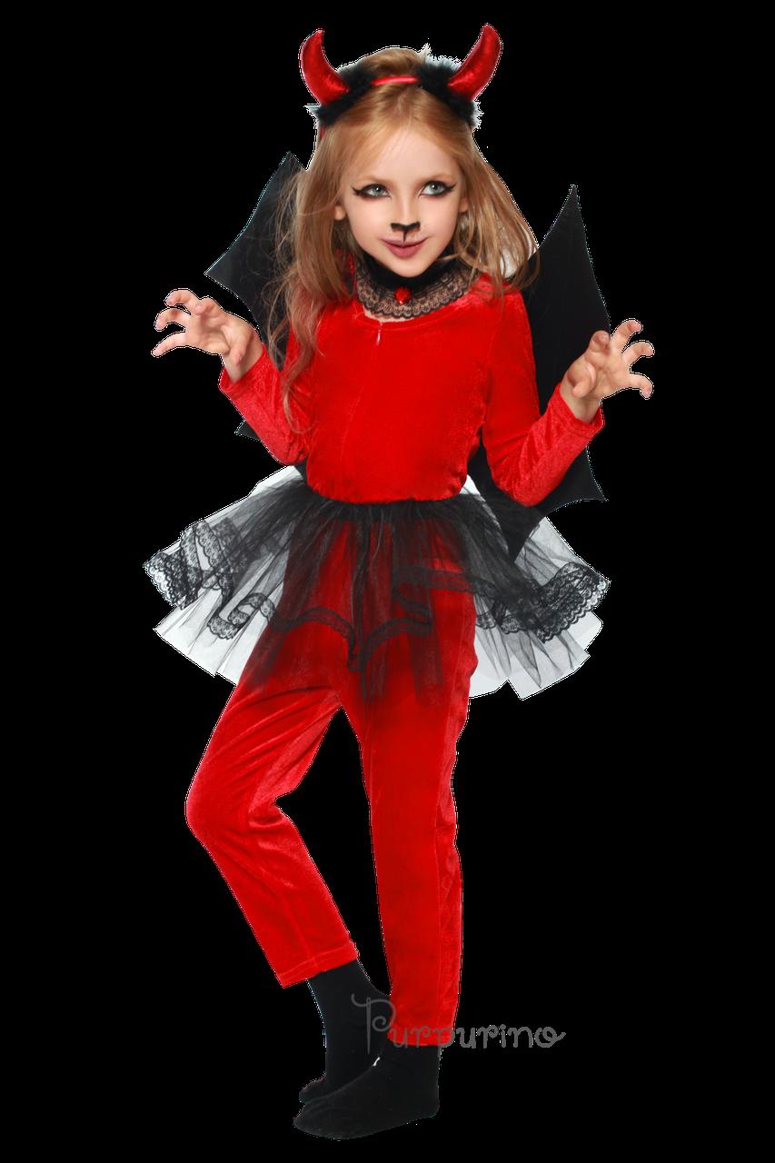 5cc7451a7b056be Детский карнавальный костюм для девочки ЧЕРТЕНОК-ДЕВОЧКА - Интернет-магазин