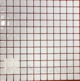 Скляна мозаїка біла Glass Mosaik HVZ-1001