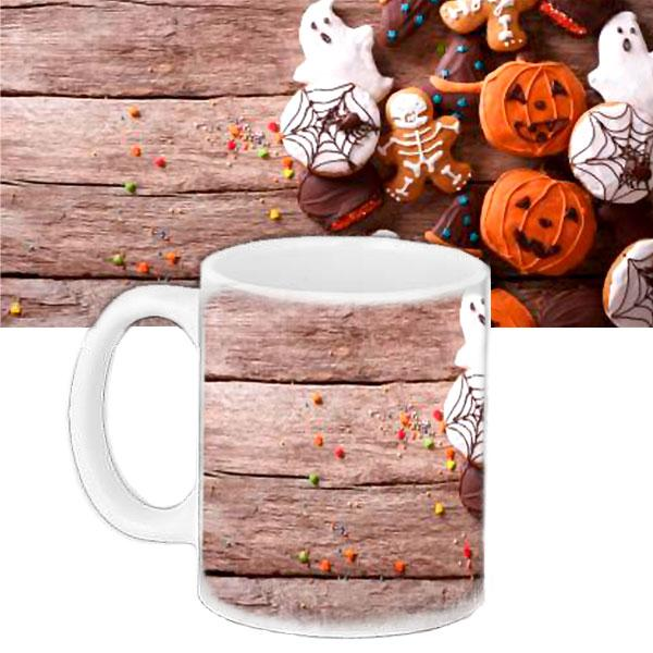 Чашка Moderika белая с рисунком Хеллоуин (33421)