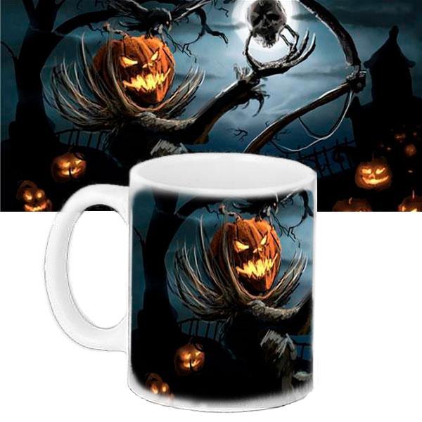 Чашка Moderika белая с рисунком Хеллоуин (33423)