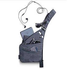 Сумка-рюкзак на одно плечо, кобура, слинг, sling