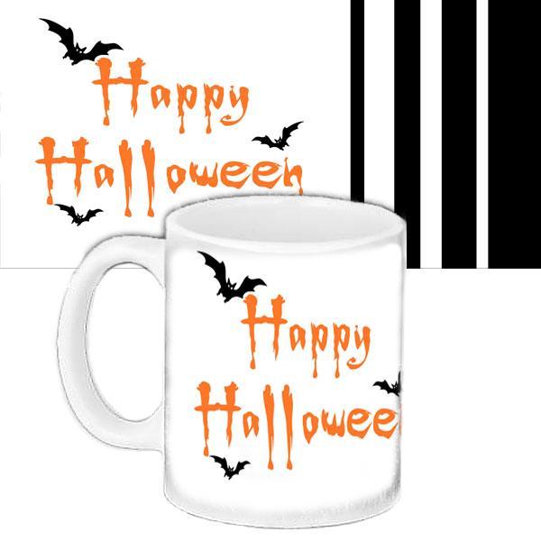 Чашка Moderika белая с рисунком Хеллоуин (33429)